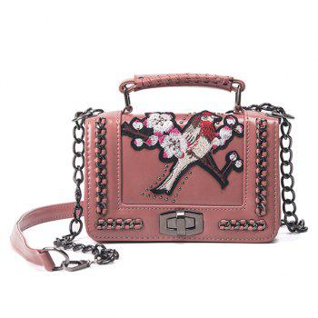 Embroidered Chains Cross Body Bag