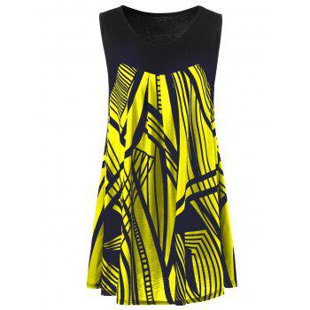 Plus Size Graphic Extra Long Tank Top