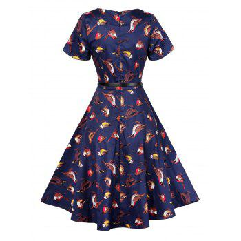 Retro Pin Up Dress - Azuré 2XL