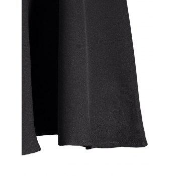 Square Neck High Waist Fit and Flare Dress - S S