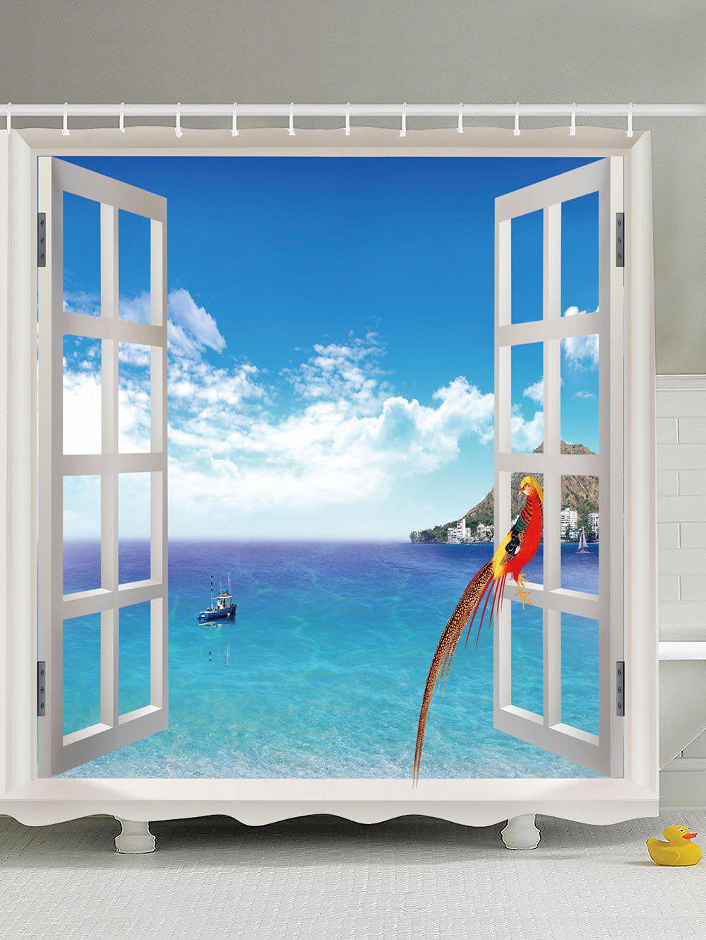 Window Seascape Print Bathroom Shower Curtain new rooder hoverboard scooter single wheel electric skateboard