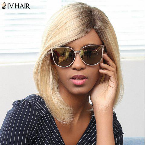 Siv Hair Medium Colormix Straight Side Part Bob Human Hair Wig - COLORMIX