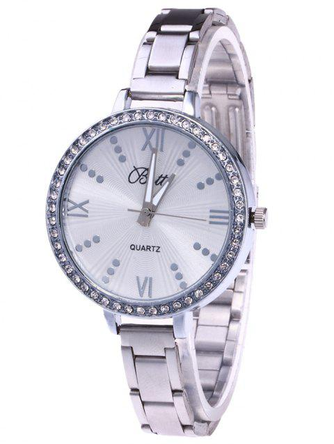 YBOTTI Alloy Strap Wrist Quartz Watch - SILVER