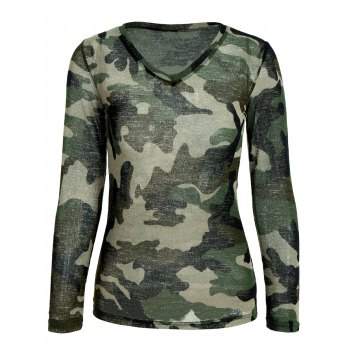 Long Sleeve Camouflage T-Shirt