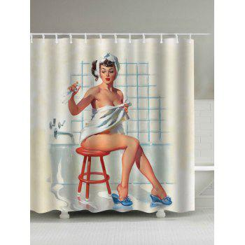 Waterproof Vintage Shower Women Shower Curtain