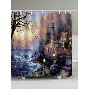 Oil Painting Fairyland Waterproof Shower Curtain