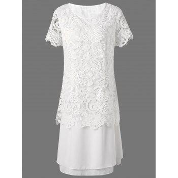 Midi Layered Lace Panel Dress