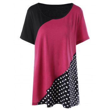 Polka Dot Color Block T-Shirt