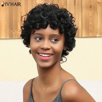 Siv Hair Short Curly Cut Capless Human Hair Wig