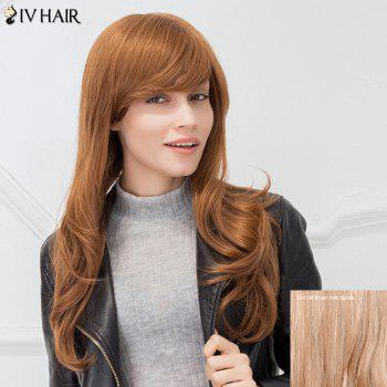 Siv Hair Long Slightly Curled Sided Bang Capless Human Hair Wig