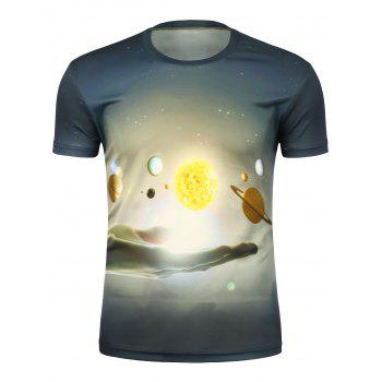 3D Abstract Hand and Moon T-Shirt