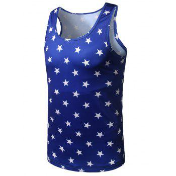 All Over Stars Printed Tank Top