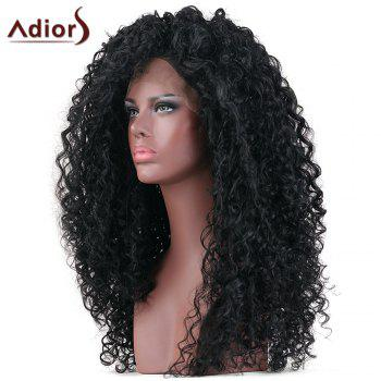 Adiors Long Curly Lace Front Synthetic Wig - BLACK 18INCH