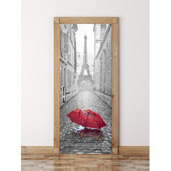 3D Paris Eiffel Tower Door Wall Sticker