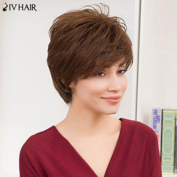 Siv Hair Short Straight Layered Cut Side Bang Human Hair Wig