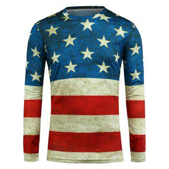 Long Sleeve Stripe and Star T-Shirt
