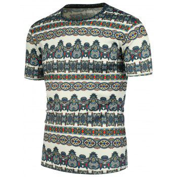 National Style Pattern Short Sleeves T-Shirt