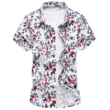 Slim Fit Button Floral Shirt