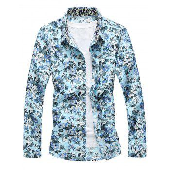 Button Front Flower Shirt