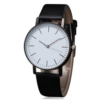 Faux Leather Casual Quartz Watch