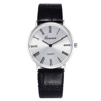 Faux Leather Roman Numerals Watch