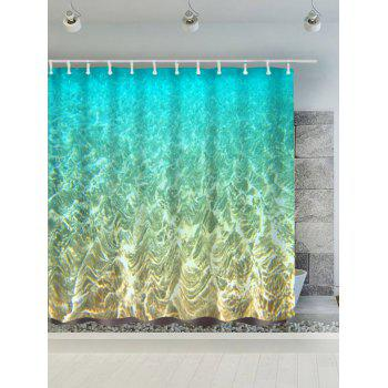 Mermaid Seabed Polyester Waterproof Bath Curtain