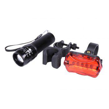 Flashlight 5 LED Butterfly Taillight and Cycling Lamp Clip Set - BLACK BLACK