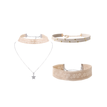 Star Flower Choker Necklace Set - OFF-WHITE OFF WHITE