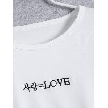 Cropped Love Graphic Tee - WHITE WHITE