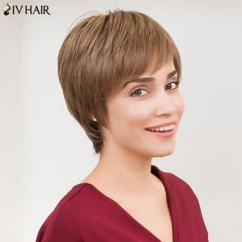 Siv Hair Straight Side Bang Short Layered Human Hair Wig