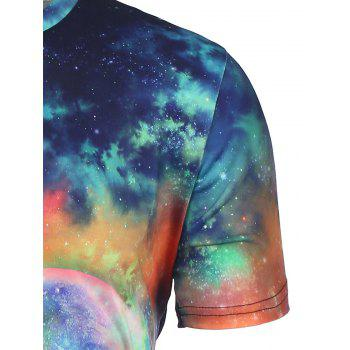 3D T-shirt Galaxy Colorful Imprimer - multicolorcolore 3XL
