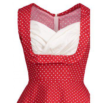 Polka Dot Pin Up Dress - Rouge XL