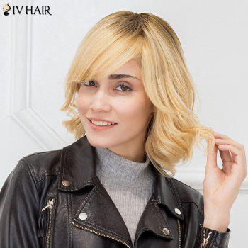 Siv Hair Colormix Side Bang Curly Bob Shaggy Short Human Hair Wig