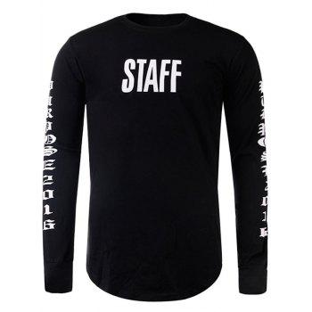 Crew Neck Graphic Print Cool Long T-Shirt