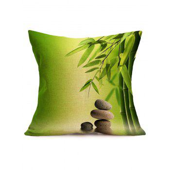 Digital Bamboo Cobblestone Linen Throw Pillowcase