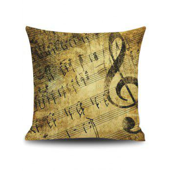 Vintage Music Score Print Linen Pillowcase