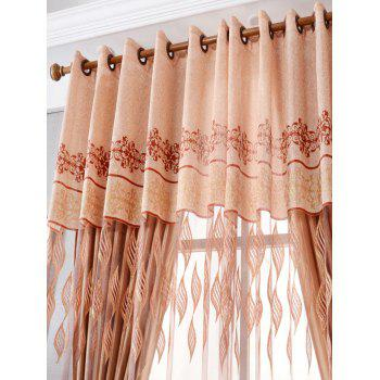 Flower Embroidery Sheer Fabric Tulle with Pendant Decor - W39 INCH*L79 INCH W39 INCH*L79 INCH