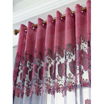 Window Screen Sheer Flower Tulle Curtain For Living Room - W39 INCH*L79 INCH W39 INCH*L79 INCH