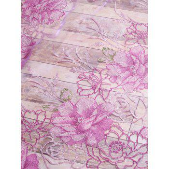 Flower Embroidered Sheer Window Tulle For Living Room - PINK W39 INCH*L79 INCH
