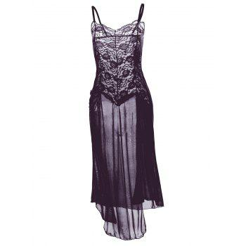See Through Plus Size Slip Dress