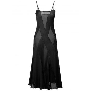 Sheer Plus Size Slip Dress