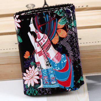 Whipstitch Ethnic Print Wallet