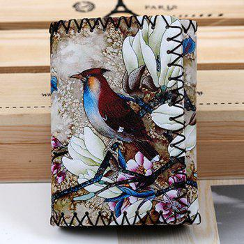 Flower and Bird Print Wallet - COLORMIX COLORMIX