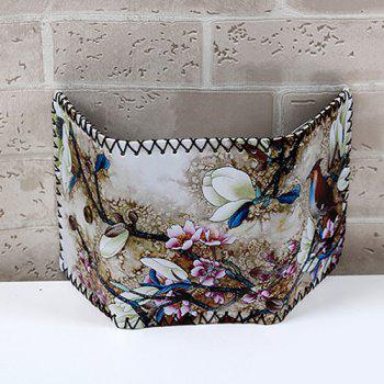 Flower and Bird Print Wallet -  COLORMIX