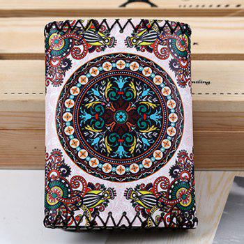 Tribal Print Tri Fold Wallet