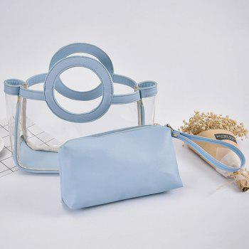 Transparent Handbag and Wristlet