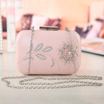 Flower Cut Out Chains Evening Bag