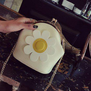 Kisslock Flower Cross Body Bag