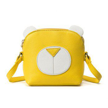 Cartoon Bear Color Block Cross Body Bag