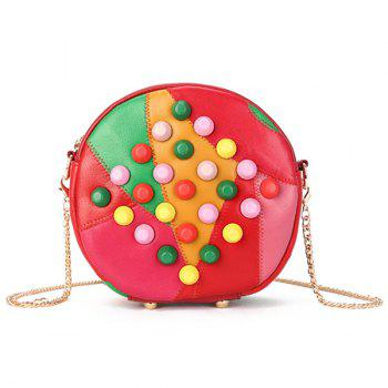 Cross Body Studded Chains Canteen Bag